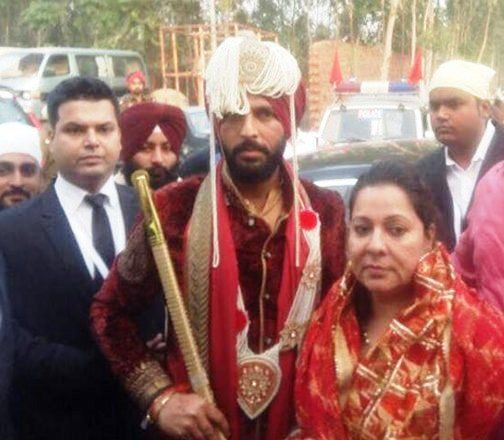 Yuvraj Singh arrived at the wedding day
