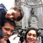 Meghna Gulzar With Her Husband And Son