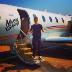 Martin Garrix with the Plane of his name