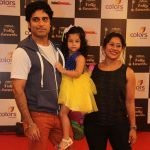 hakti Anand with his wife and daughter
