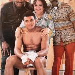 Muhammad Ali with his parents and brother