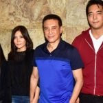 left to right: mother Gawa Denzongpa, brother Rinzing Denzongpa, father Danny Denzongpa, brother Rinzing