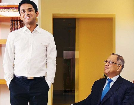 Akshata Murthy's Father and Brother- Narayana Murthy and Rohan Murty