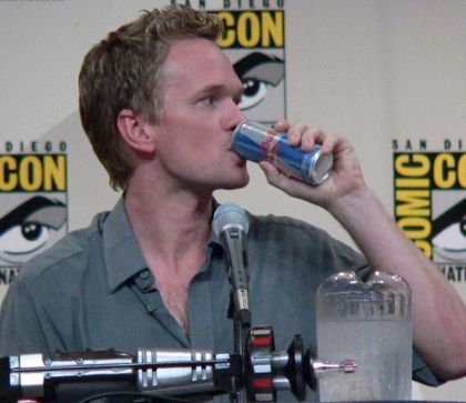 Neil Patrick Harris drinking Red Bull