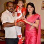 H. D. Kumaraswamy With His Second Wife Radhika Kumaraswamy And Daughter