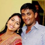 Navya Nair with her brother Rahul Nair