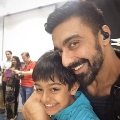 Ashish Chowdhry with his son, Agastya Chowdhry