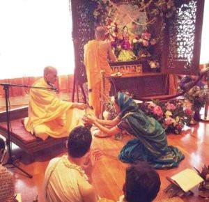 Roshni Devlukia with Radhanath Swami