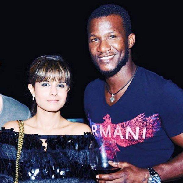 Monicka Vadera with Darren Sammy