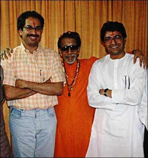 Bal Thackeray With Uddhav and Raj Thackeray
