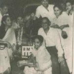 Guru Dutt Wife and Friends With His BMW Car