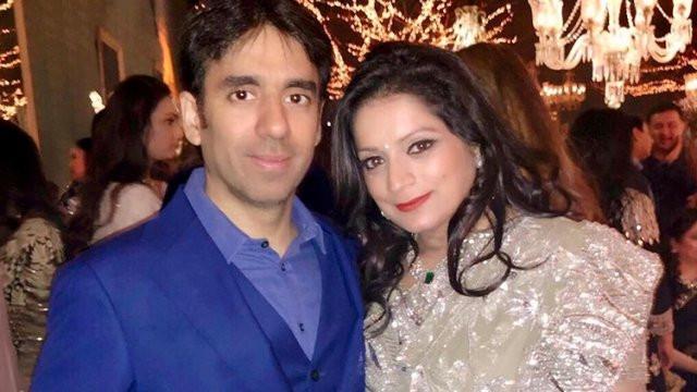 Deepak Mehra with his wife