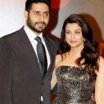 Aishwarya Rai with her husband Abhishek Bachchan