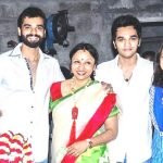 Actor Hrishikesh with his family