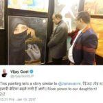 Vijay Goel's tweet on Zaira Wasim