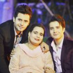 Zaan Khan with his brother and mother