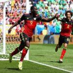 Romelu Lukaku playing in Euro 2016