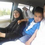 Nazia Iqbal With Her Husband and Son