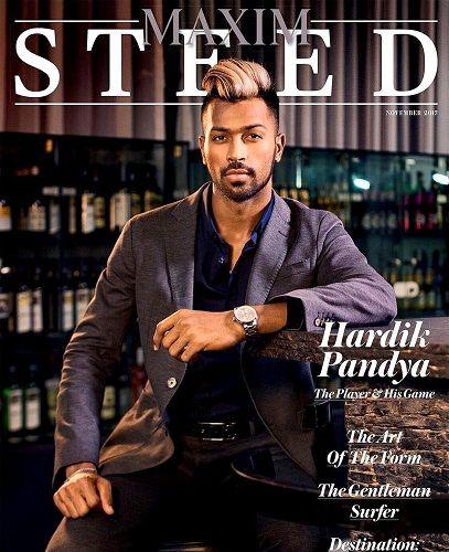 Hardik Pandya on the 'Maxim India' magazine cover