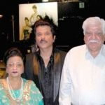Sanjay Kapoor with his parents