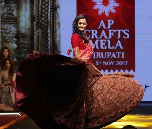Shubra Aiyappa during modelling