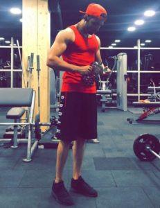 Satti Dhillon during his workout