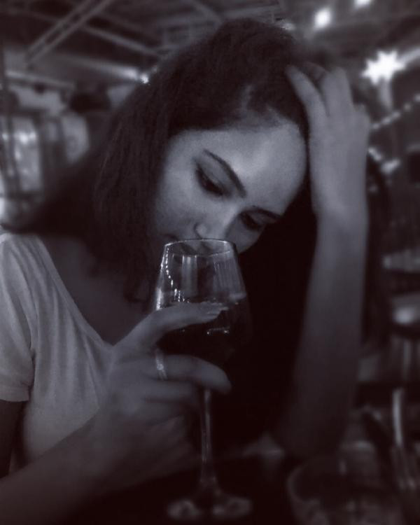 Kamna Pathak With A Glass of Wine