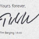 Avicii  signature