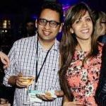 Esha with her husband Anshu Pande