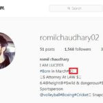 Romil Chaudhary- Instagram Account Page
