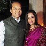 Naveen Jindal with his Wife Shallu Jindal