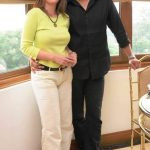 Wasim Akram with his first wife Late Huma Akram