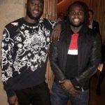 Romelu Lukaku with his brother Jordan Lukaku