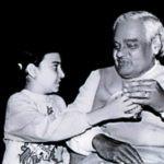 Atal Bihari Vajpayee With His Granddaughter Niharika
