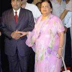 Mukesh Ambani with his mother Kokilaben Ambani