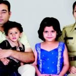 D Roopa With Her Husband and Children
