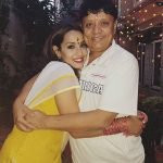 Priyanka Karki with her father