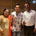 Faisal Khan with his parents