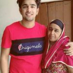 Jass Manak with his mother
