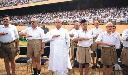 Atal Bihari Vajpayee Attending RSS Workshop