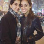 Sargun Kaur with her mother