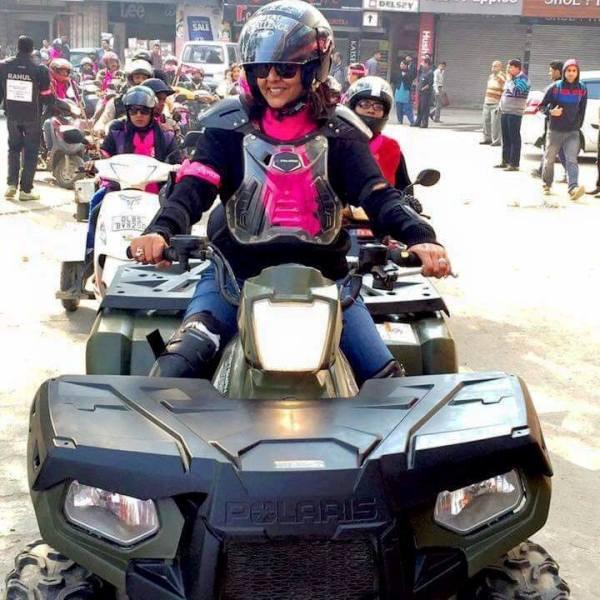 Deepa Malik in the Motorcycle Rally