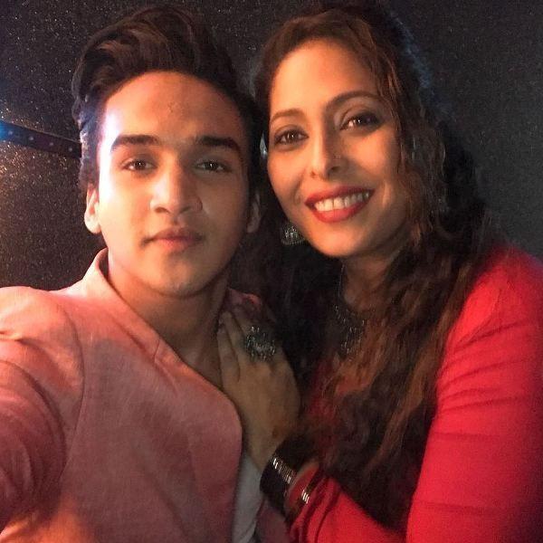 Faisal Khan with Geeta Kapur