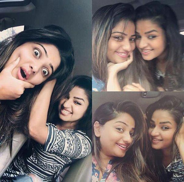 Rachita Ram with her sister