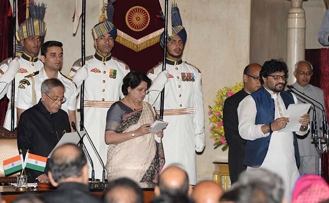 Babul Supriyo while taking Oath