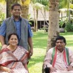 Ajit Jogi with his wife and son