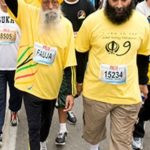 Fauja Singh With His Son Harwinder Singh