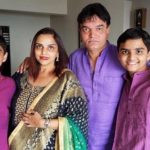 Sonali Jaffar with her husband and sons