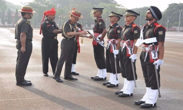 Parikshit Bawa being presented with the Sword of Honour