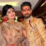 Ravindra Jadeja with his wife Reeva Solanki